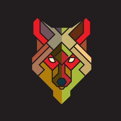 Abstract Wolf Graphic with Colorful Geometric Pattern, Vector by Jumpeestudio