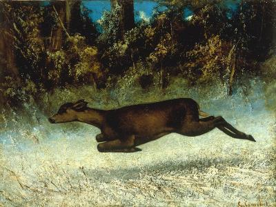 Jumping Deer-Gustave Courbet-Giclee Print