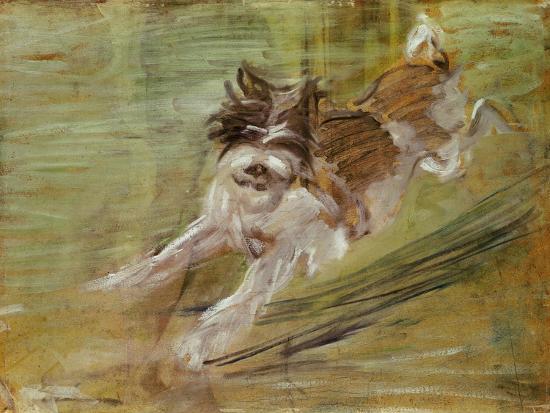 Jumping dog Schlick. 1904-Franz Marc-Giclee Print