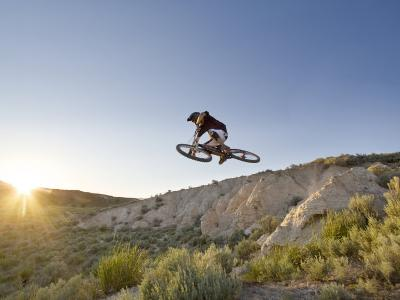 Jumping the Clay Cliffs, Polson, Montana, USA-Chuck Haney-Photographic Print