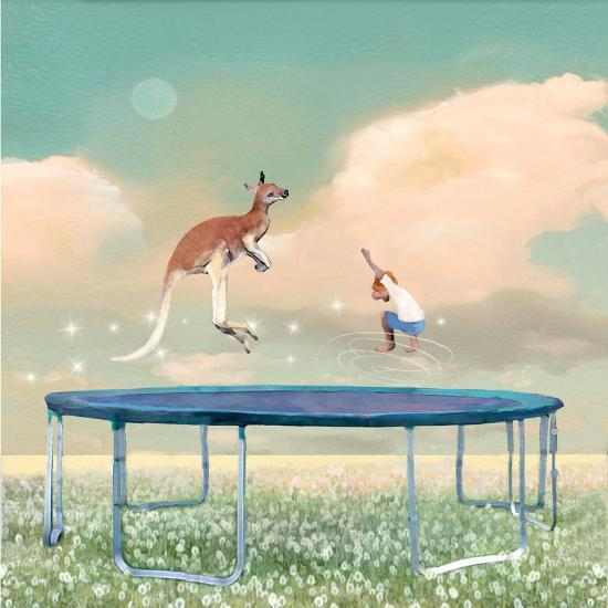 Jumping With Kangaroo-Nancy Tillman-Premium Giclee Print