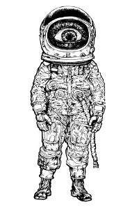 Amazement Astronaut. Vector Illustration by jumpingsack