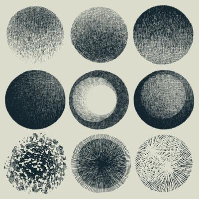 Grunge Halftone Drawing Textures Set. Vector Illustration by jumpingsack
