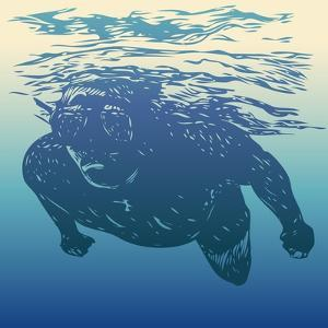 Scuba Diving. Hand Drawn Design Element. Vector Illustration. by jumpingsack