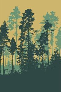 Silhouettes of Forest by jumpingsack