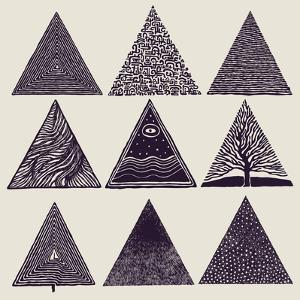 Triangles Set. Vector Illustration. by jumpingsack