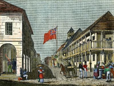Junction of Harbour Street and King Street, Kingston, Jamaica, C1835--Giclee Print