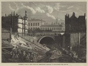 Junction of the St John's Wood and Metropolitan Railways at Baker-Street