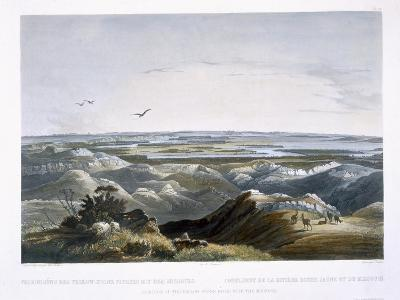 Junction of Yellow Stone River with the Missouri, Travels in the Interior of North America-Karl Bodmer-Giclee Print