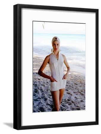 June 1956: Woman Modeling Beach Fashions in Cuba-Gordon Parks-Framed Photographic Print