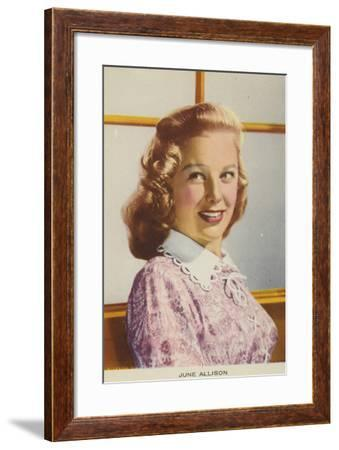 June Allyson, American Actress and Film Star--Framed Photographic Print