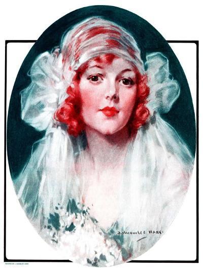 """June Bride,""June 7, 1924-J^ Knowles Hare-Giclee Print"