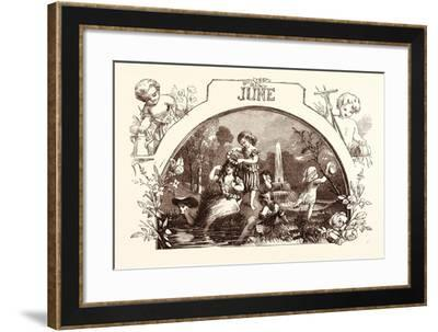 June, Calendar, Year, Month, Monthly--Framed Giclee Print