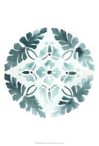 Aqua Medallions III by June Erica Vess