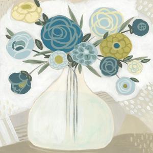 Blue Bohemian Bouquet II by June Erica Vess