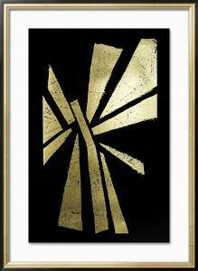 Gold Foil Symbiotic IV on Black by June Erica Vess