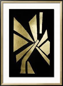 Gold Foil Symbiotic VI on Black by June Erica Vess