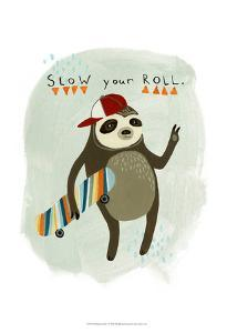 Hipster Sloth I by June Erica Vess