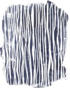 Indigo Batik Vignette III by June Erica Vess