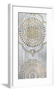 Metallic Foil Indigo Mandala I by June Erica Vess