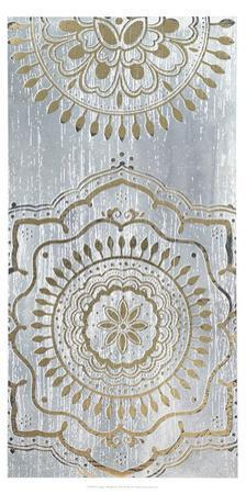 Metallic Foil Indigo Mandala II by June Erica Vess