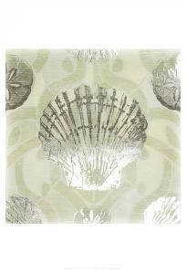 Metallic Shell Tiles I by June Erica Vess