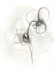 Neutral Floral Gesture I by June Erica Vess