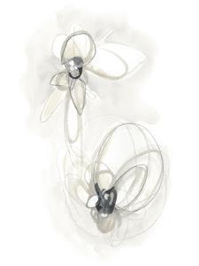 Neutral Floral Gesture III by June Erica Vess