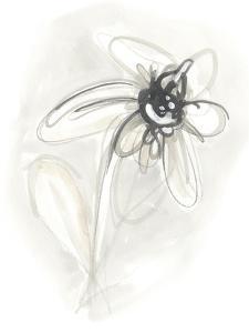 Neutral Floral Gesture V by June Erica Vess