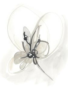 Neutral Floral Gesture VI by June Erica Vess
