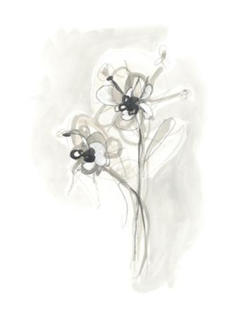 Neutral Floral Gesture VII by June Erica Vess