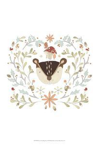 Whimsical Woodland Faces II by June Erica Vess