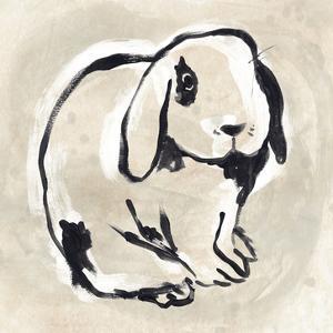 Antique Rabbit III by June Vess