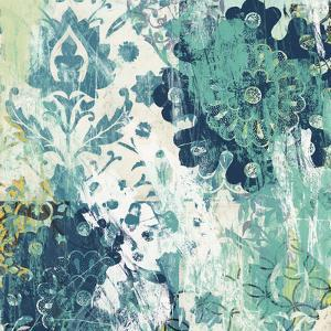 Blue Floral Layers I by June Vess