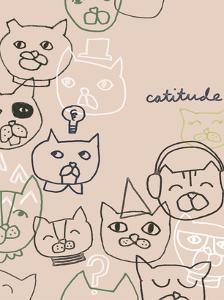 Cattitude I by June Vess