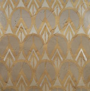 Gilded Deco Motif VI by June Vess