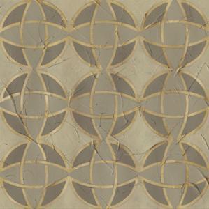 Golden Trellis VII by June Vess