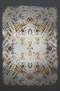 Multi Foil Tropical Kaleidoscope II on Dark Grey by June Vess