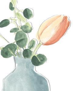 Soft Posy Sketch II by June Vess