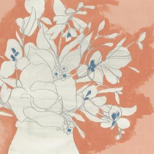 Terracotta Flowers I by June Vess