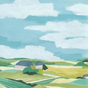 Village Valley I by June Vess