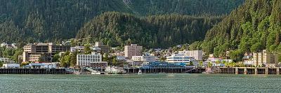 Juneau city at waterfront, Southeast Alaska, Alaska, USA--Photographic Print