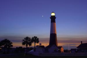 Tybee Island Lighthouse at Dusk by Jung-Pang Wu