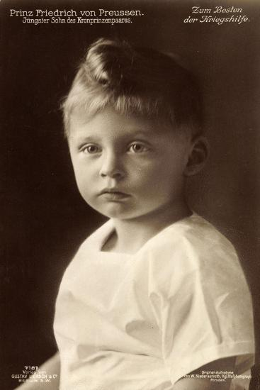 Junger Prinz Friedrich Von Preußen, Liersch 7181--Giclee Print