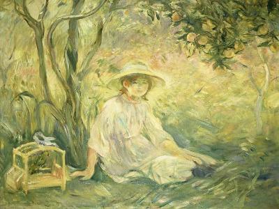 Junges Maedchen Unter Orangenbaeumen, 1889-Berthe Morisot-Giclee Print