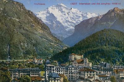 Jungfraujoch - Interlaken and Jungfrau in Switzerland. Postcard Sent in 1913-Swiss photographer-Giclee Print