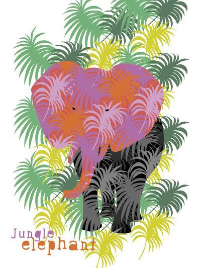 Jungle Elephant-Laure Girardin-Vissian-Giclee Print