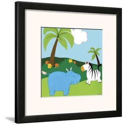 Jungle Jamboree III-Erica J. Vess-Framed Art Print