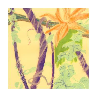 Jungle Monotype V-Carolyn Roth-Art Print