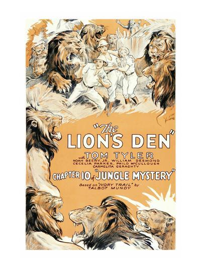 Jungle Mystery - the Lion's Den--Art Print
